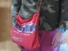 Cardinals bag Sarah made for Alyssa out of an old T-shirt; perfect for a few of Alyssa's favorite books