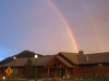 Rainbow over pretty Hot Springs Public Library